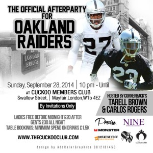 DJ RD at Raiders Party Cuckoo Members Club