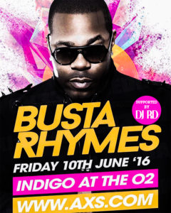 Busta Rhymes Concert Supported by DJ RD