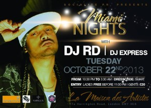 DJ RD at MIami Nights