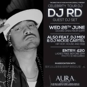 DJ RD at Aura Mayfair