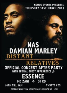 DJ RD spinning for Nas and Damian Marley
