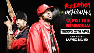 Redman & Methodman tour supported by Larynx & DJ RD