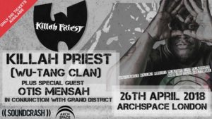 Killah Priest with DJ RD live in London