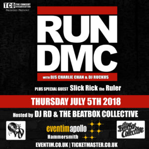 RUN DMC, Slick Rick and DJ RD Live